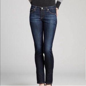AG Adriano Goldschmied Premiere Skinny Straight Blue Jeans